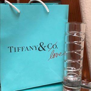 Tiffany & Co. cystal corkscrew vase.